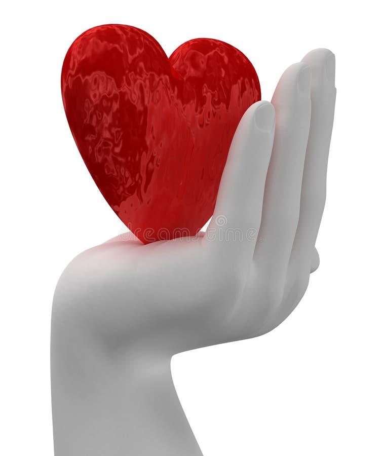 Coração nas mãos ilustração royalty free