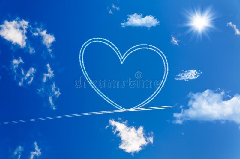 Coração no céu fotos de stock