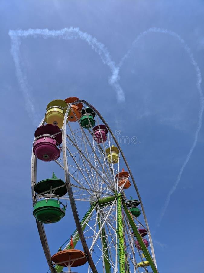 Coração no & em x22; cloud& x22; foto de stock royalty free