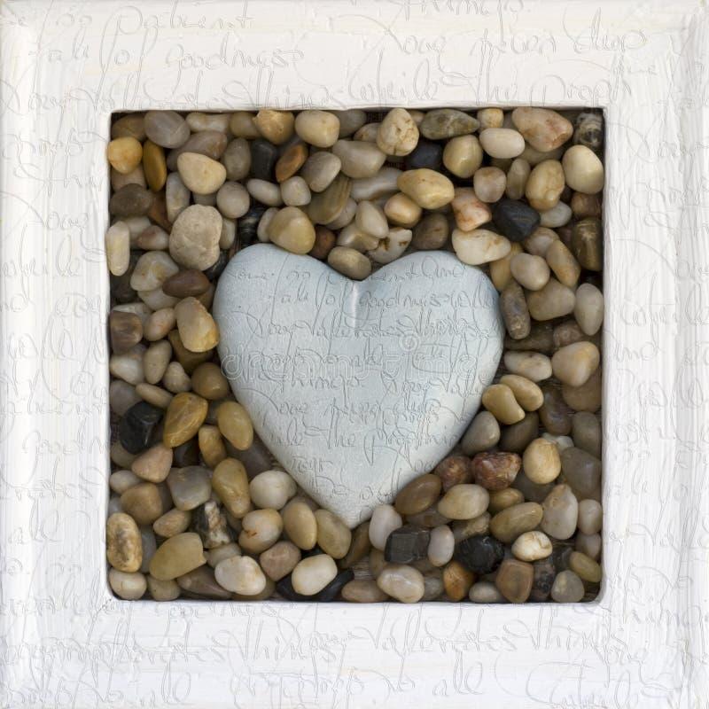 Coração no frame imagens de stock