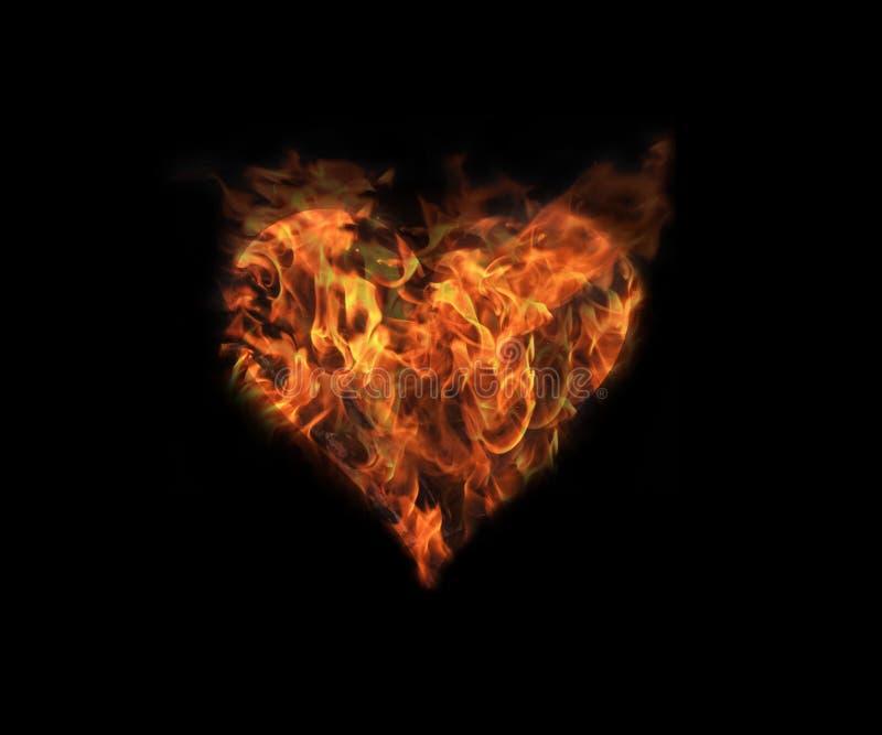 Coração no incêndio 1 imagem de stock royalty free