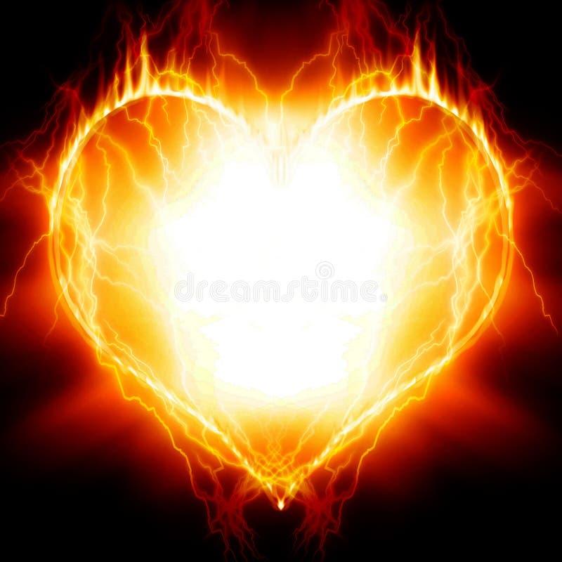 Coração no incêndio ilustração royalty free