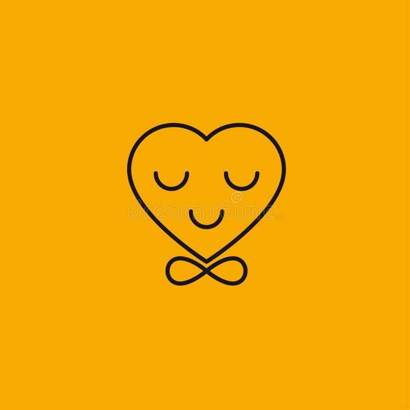 Coração no laço ilustração royalty free
