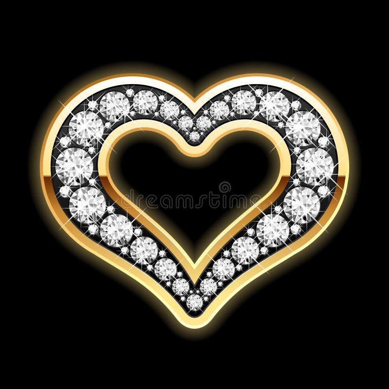 Coração nos diamantes ilustração royalty free