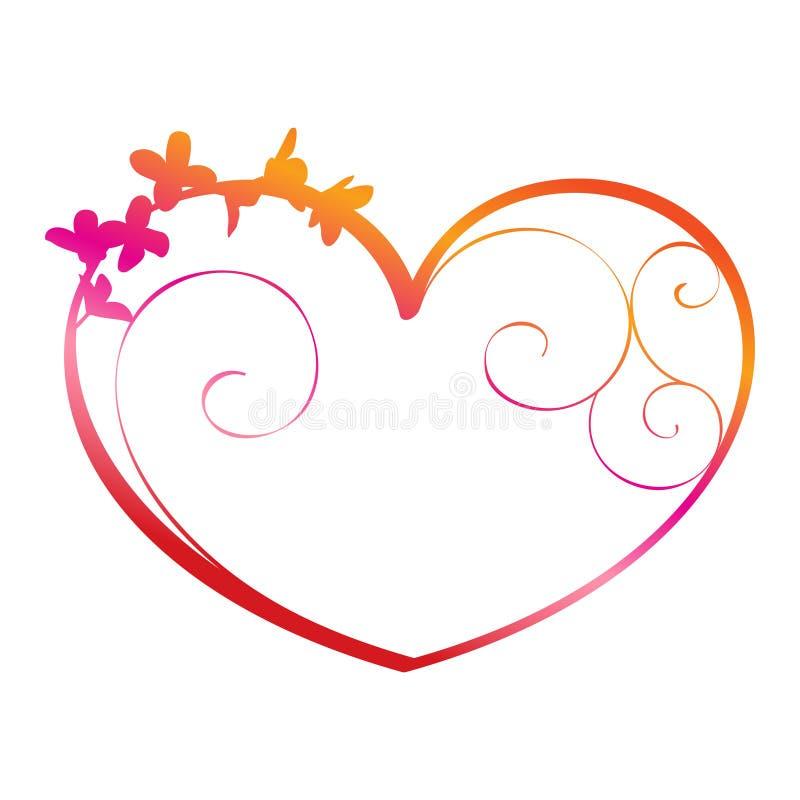 Coração ornamentado ilustração royalty free