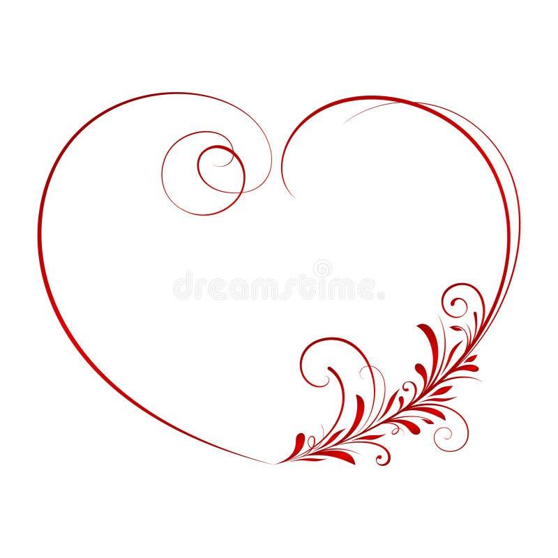 Coração ornamentado 3 ilustração royalty free