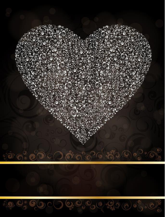 Coração Ornamented ilustração do vetor