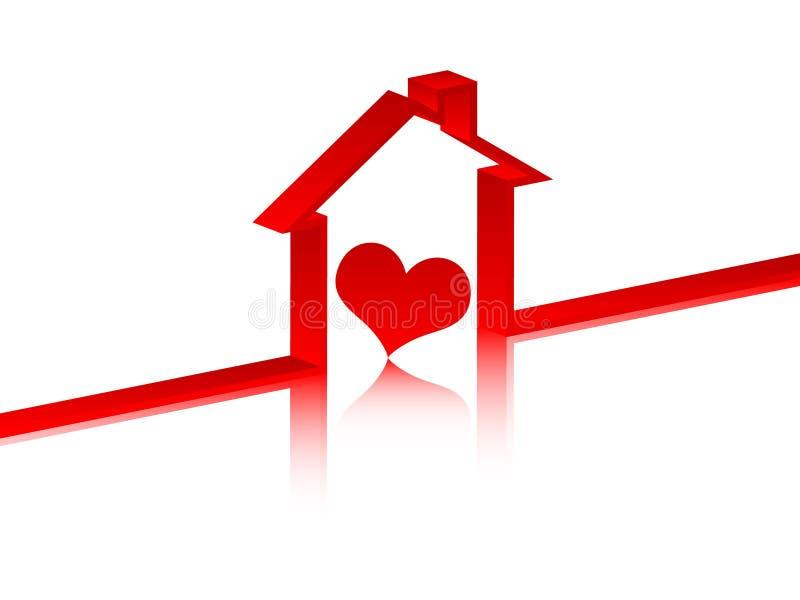 Coração para dentro na casa