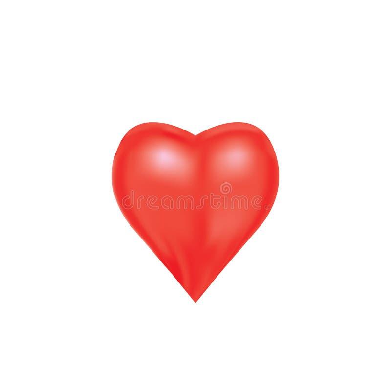 Coração para expressar a emoção do amor ilustração do vetor
