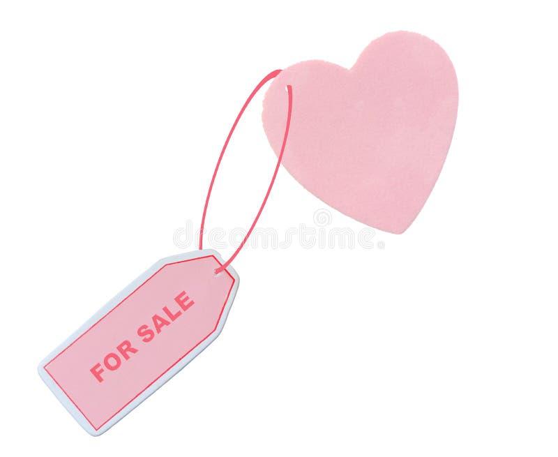 Coração para a venda foto de stock royalty free