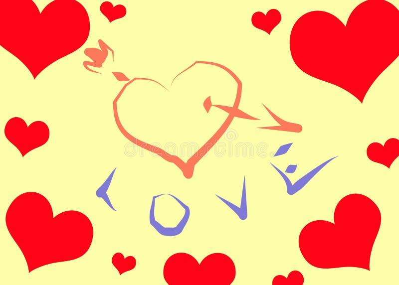 Coração perfurado ilustração do vetor