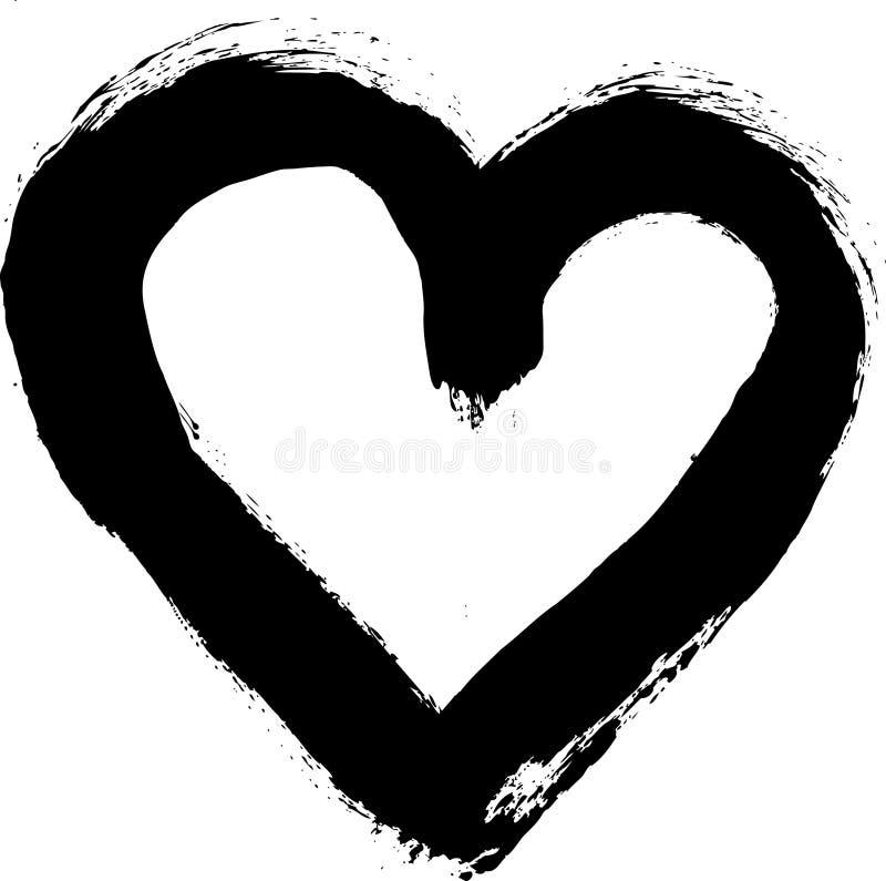 Coração pintado do grunge ilustração royalty free