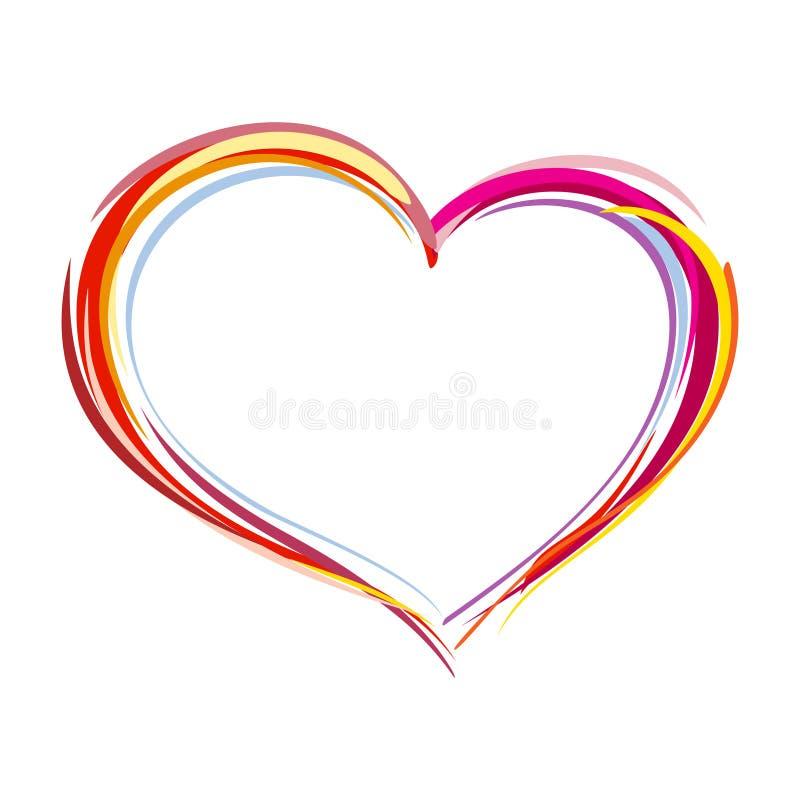 Coração pintado ilustração stock