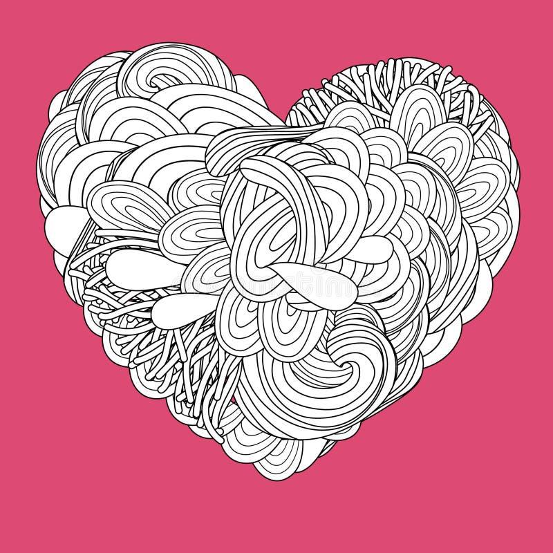 Coração psicadélico louco ilustração stock