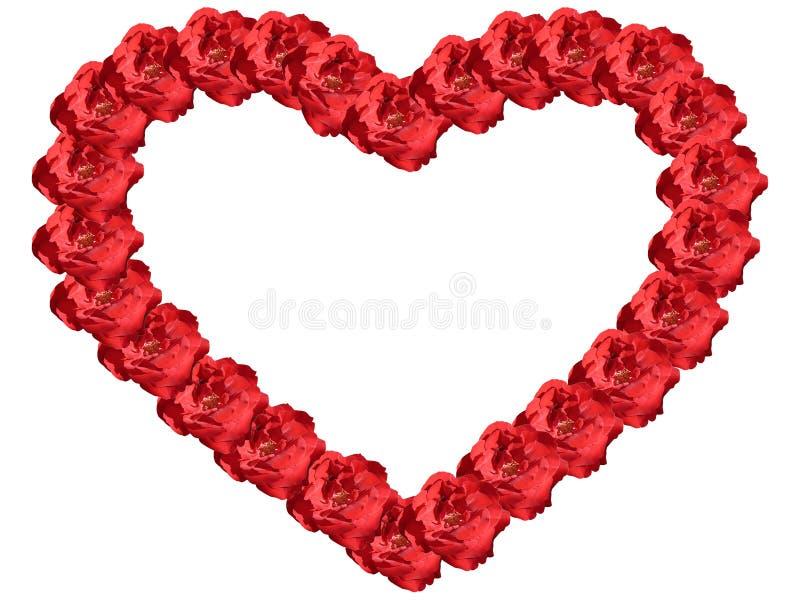 Coração quadro das flores fotografia de stock royalty free