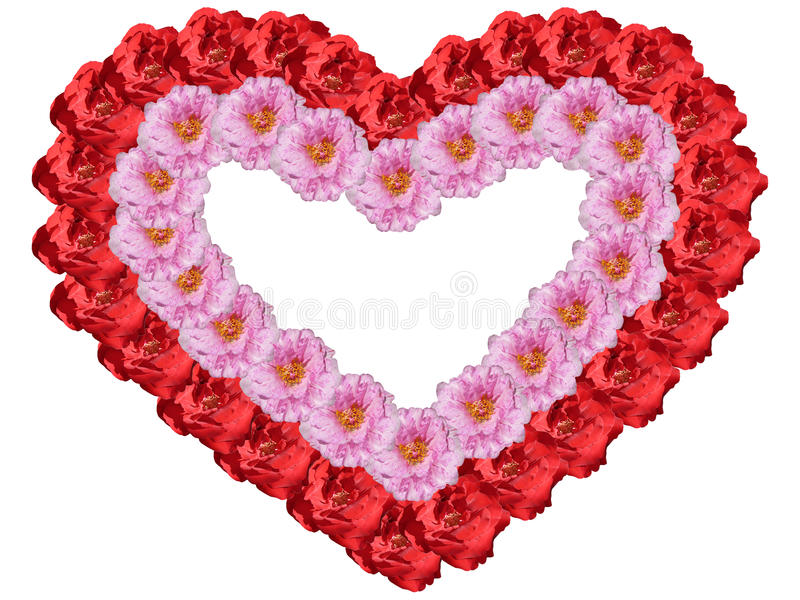 Coração quadro das flores imagens de stock