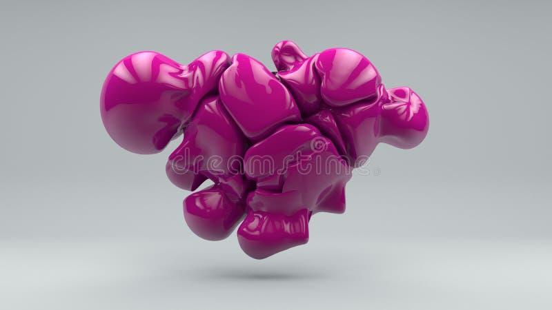 Coração que consiste em bolas derretidas 3d ilustração royalty free