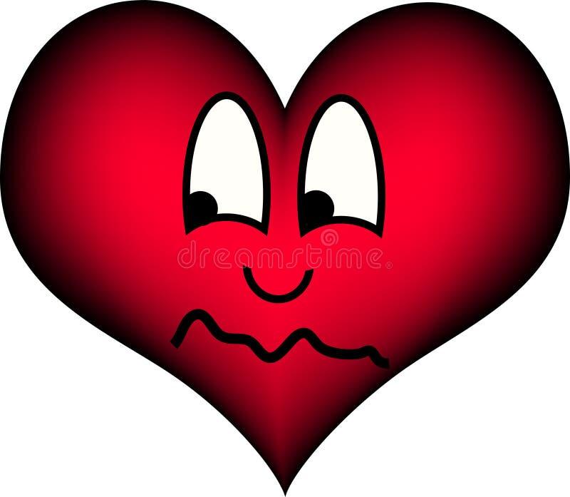 Coração que olha suspeito ilustração do vetor