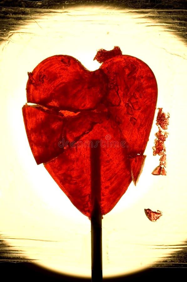 Coração quebrado imagem de stock royalty free