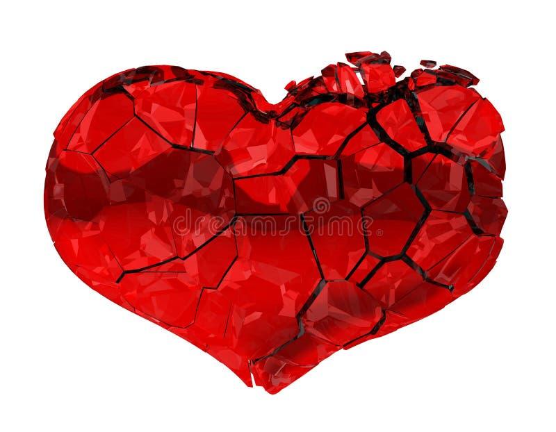 Coração quebrado - amor unrequited, dor ilustração royalty free