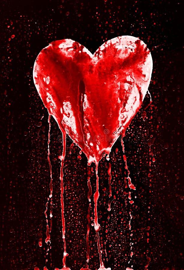 Coração quebrado - coração de sangramento fotos de stock royalty free