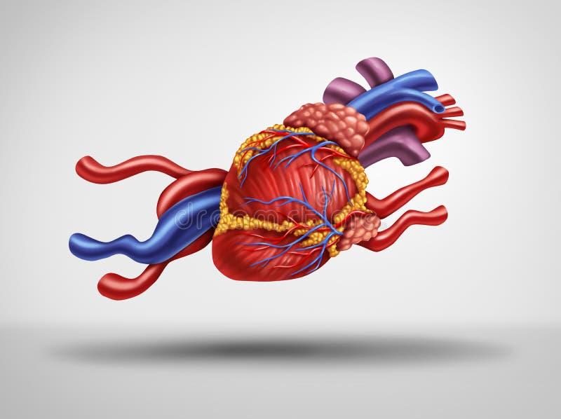 Coração rápido ilustração stock