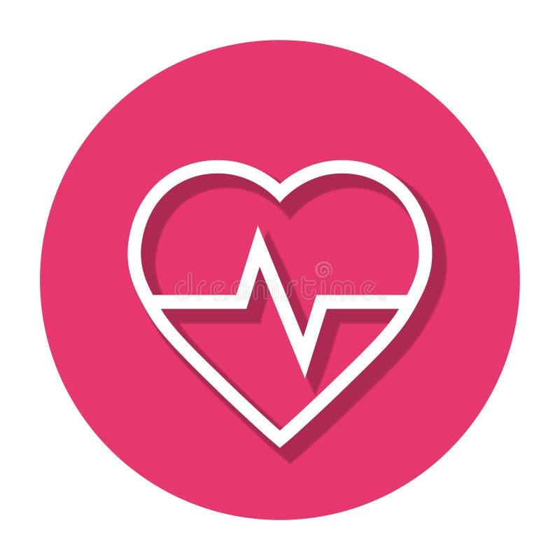 Coração Rate In Circle Line Icon do vetor ilustração do vetor