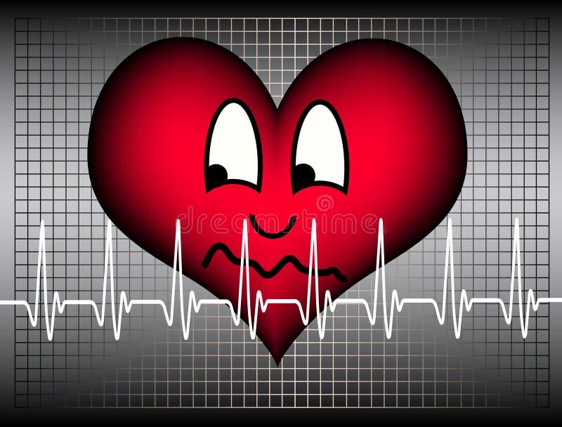 Coração receoso ilustração stock