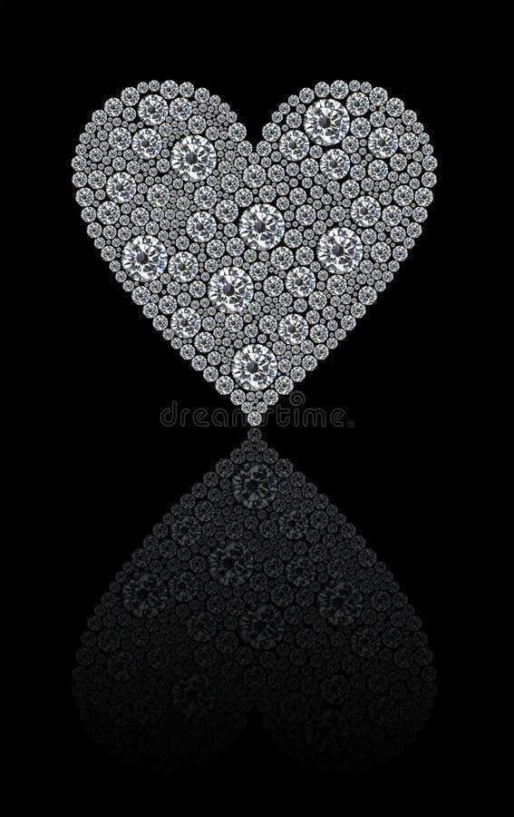 Coração redondo dos diamantes fotos de stock royalty free