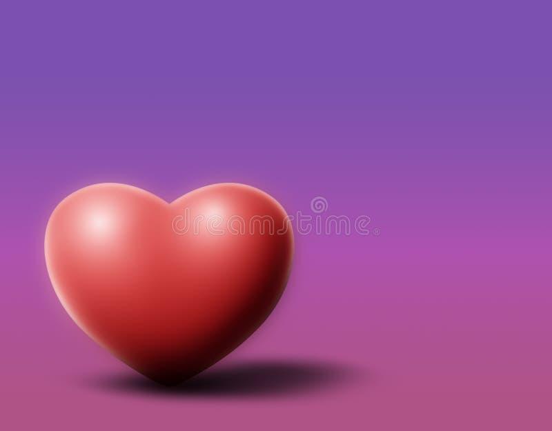 Coração roxo ilustração do vetor