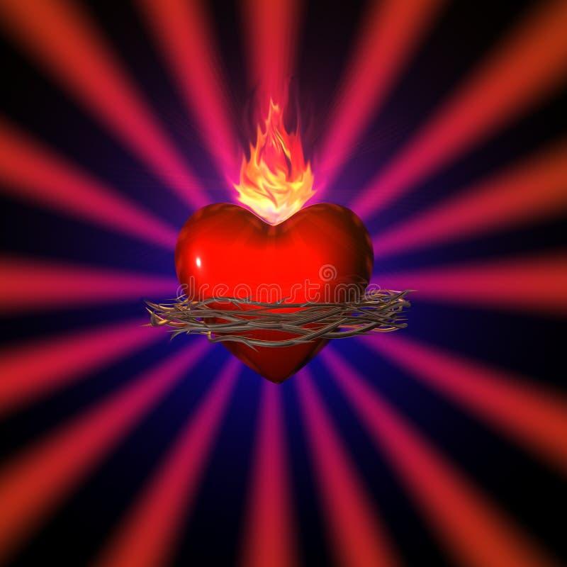 Coração sagrado ilustração do vetor