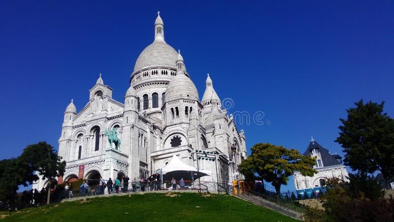 Coração sagrado da basílica de Paris fotos de stock