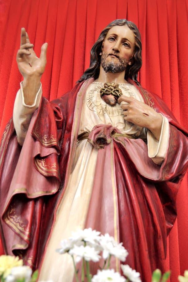 Coração sagrado de Jesus foto de stock