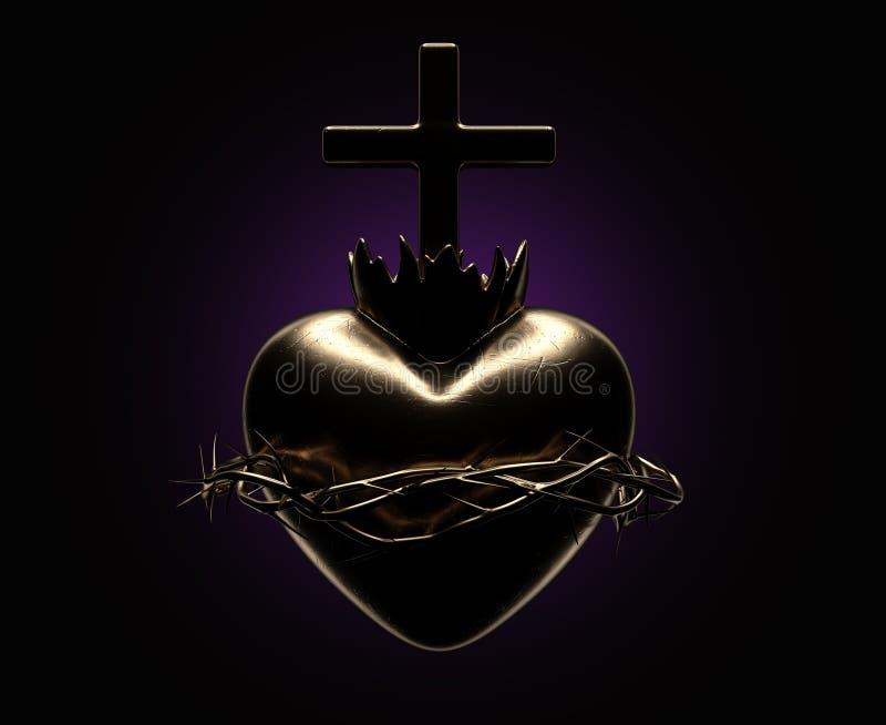 Coração sagrado de Jesus Casting ilustração do vetor