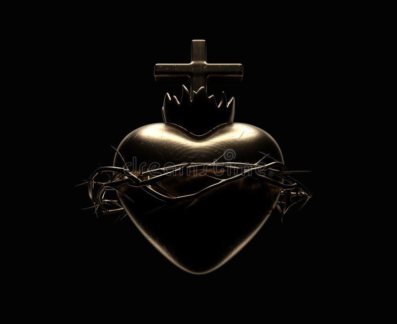 Coração sagrado de Jesus Casting ilustração royalty free