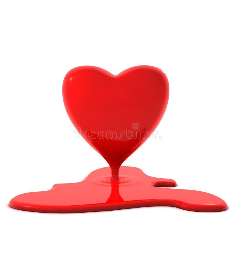 Coração sangrento do Valentim ilustração stock