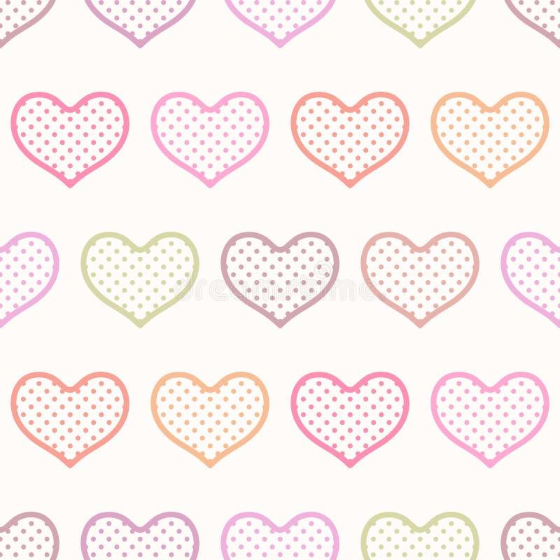 Coração sem emenda fundo textured ilustração royalty free