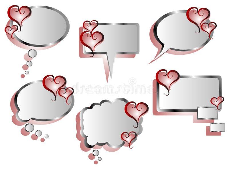 Coração Stickers ilustração stock