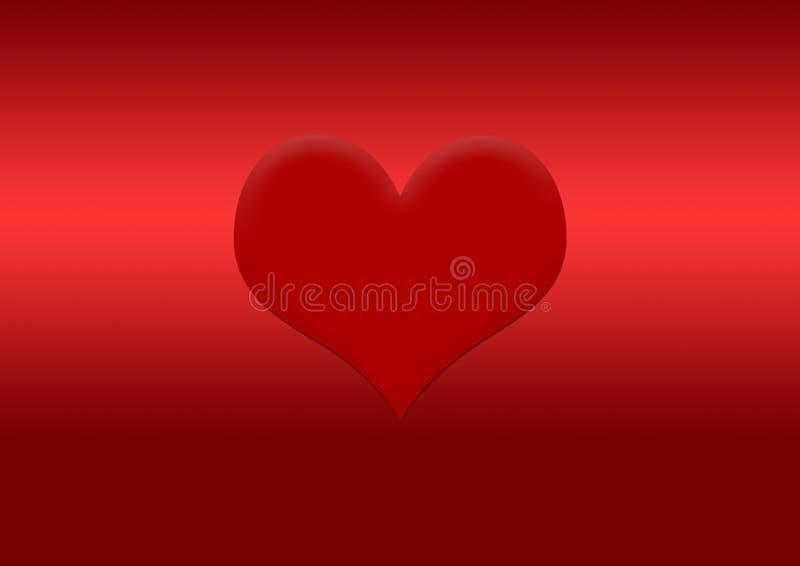 Coração textured vermelho para a imagem de fundo ilustração stock