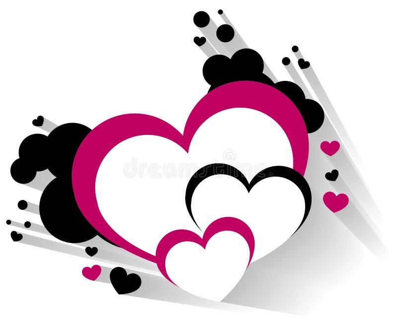 Coração tridimensional ilustração stock