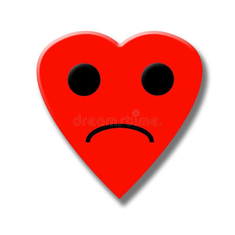 Coração triste ilustração do vetor