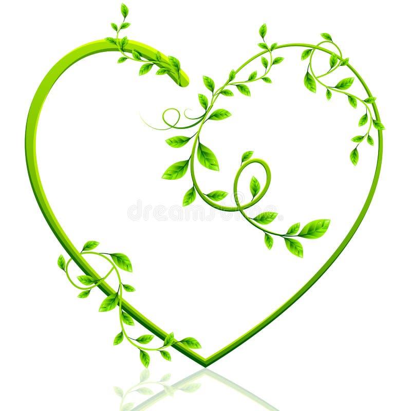 Coração verde ilustração stock