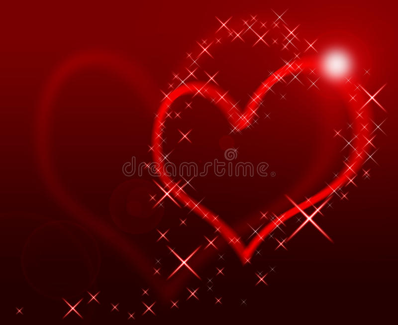 Download Coração vermelho ilustração stock. Ilustração de feriado - 12806558