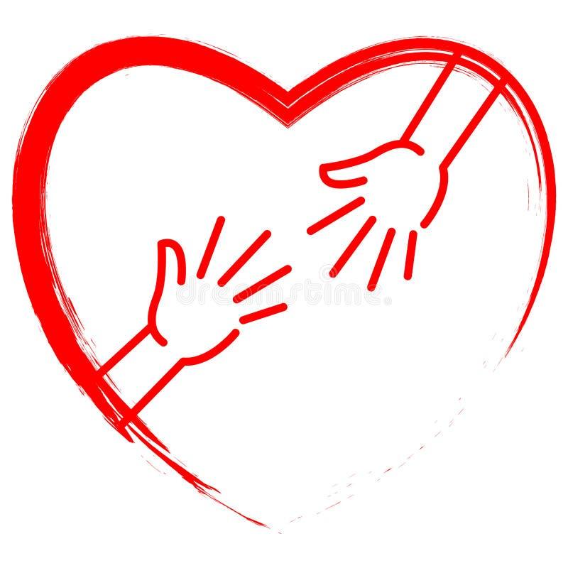 Coração vermelho