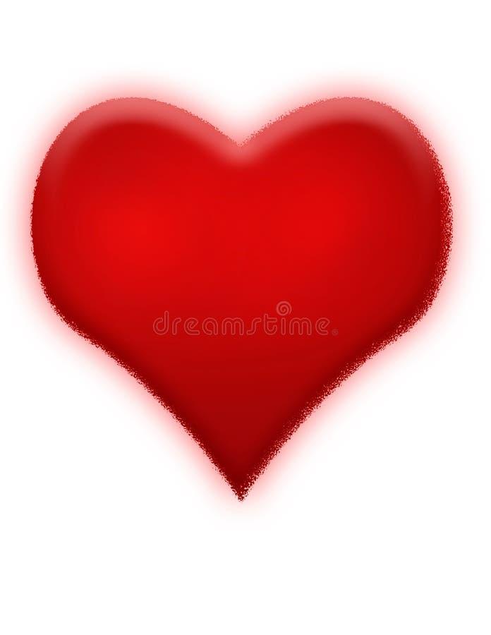 Coração vermelho ilustração royalty free