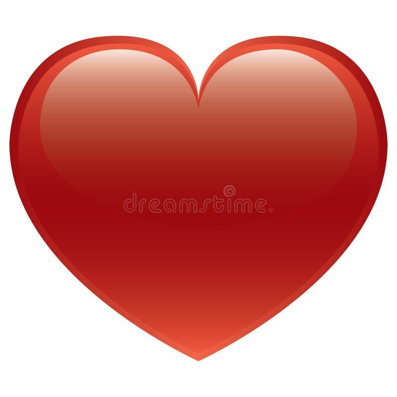 Coração vermelho -