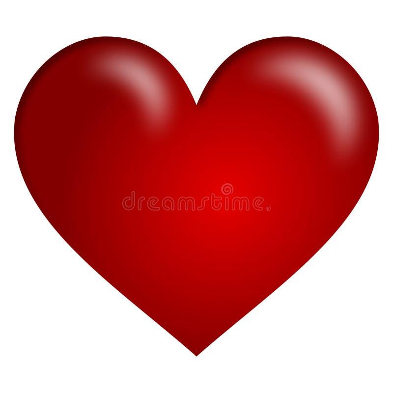 Coração Vermelho Fotos de Stock Royalty Free