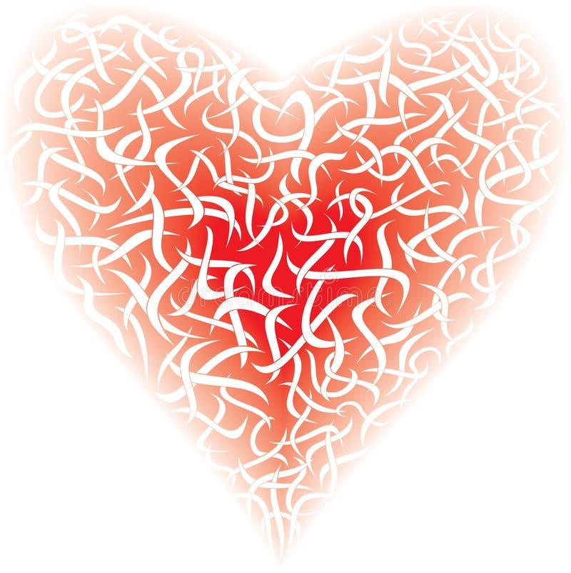 Coração vermelho, ilustração stock