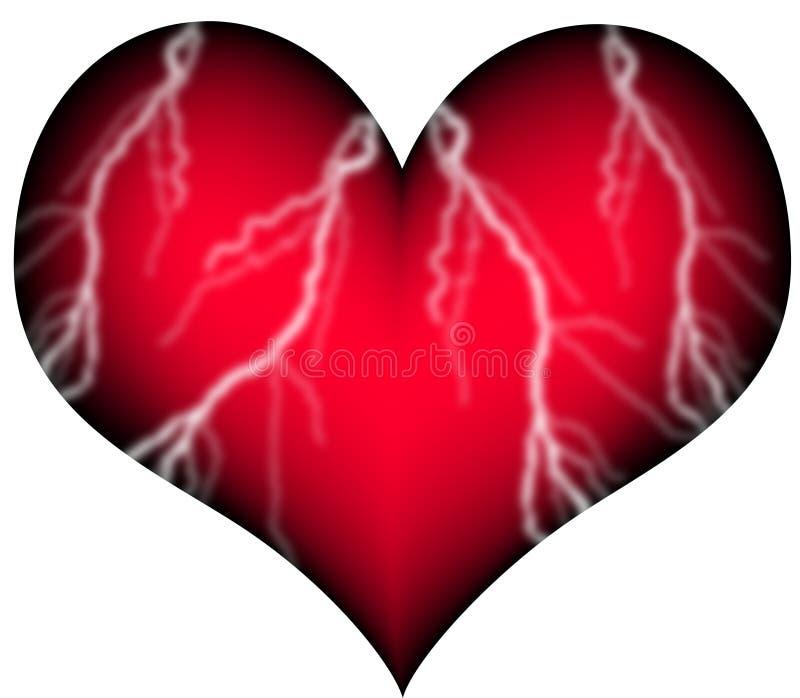 Coração vermelho com embarcações ilustração royalty free
