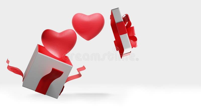Coração vermelho 3d-illustration ilustração do vetor